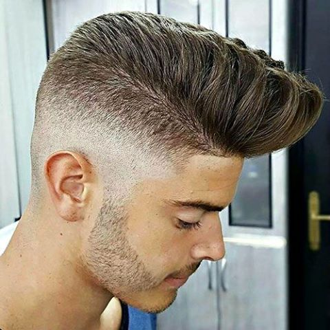 This fade and pomp is sick! #GroomUp #Theguybar | Hairstyle ...
