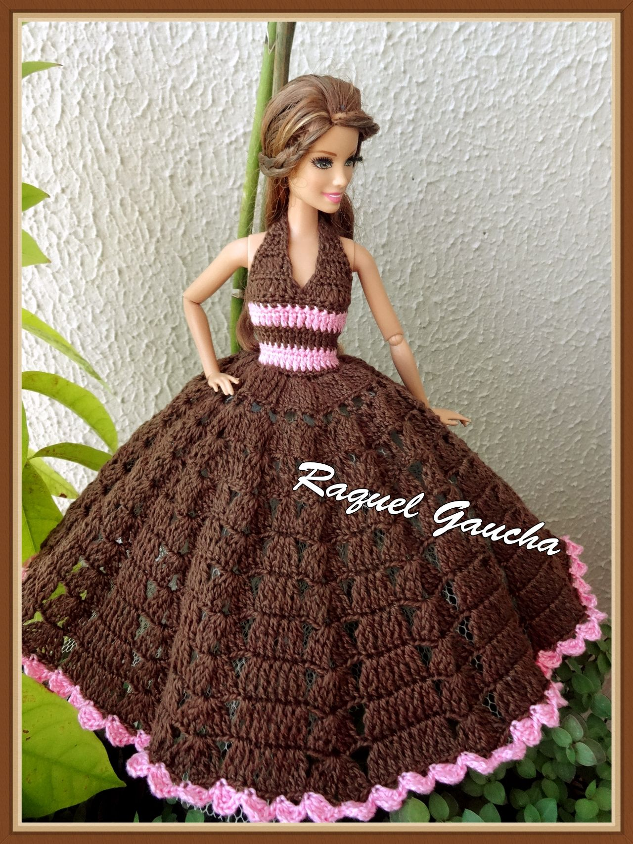 rachelcrochet.wordpress.com #Vestido #Barbie #Doll #Muñeca #Dress #Crochet #Cléa5 #Raquelgaucha