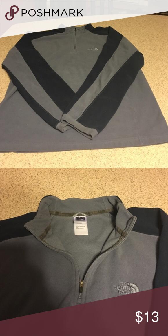 Northface fleece Two toned gray blue northface fleece! The North Face Jackets & Coats