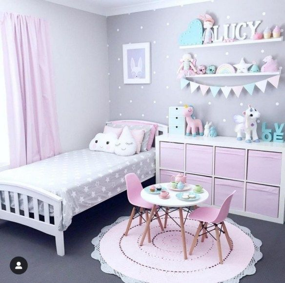 Photo of A Pink And Lavender Room For A Little Girl • One Brick At A Time