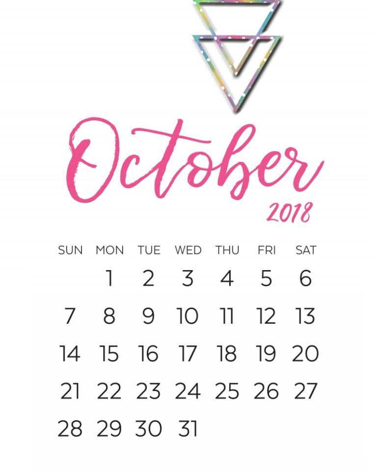 october 2018 calendar decoration with large number calendar 2018 india september calendar 2018 monthly