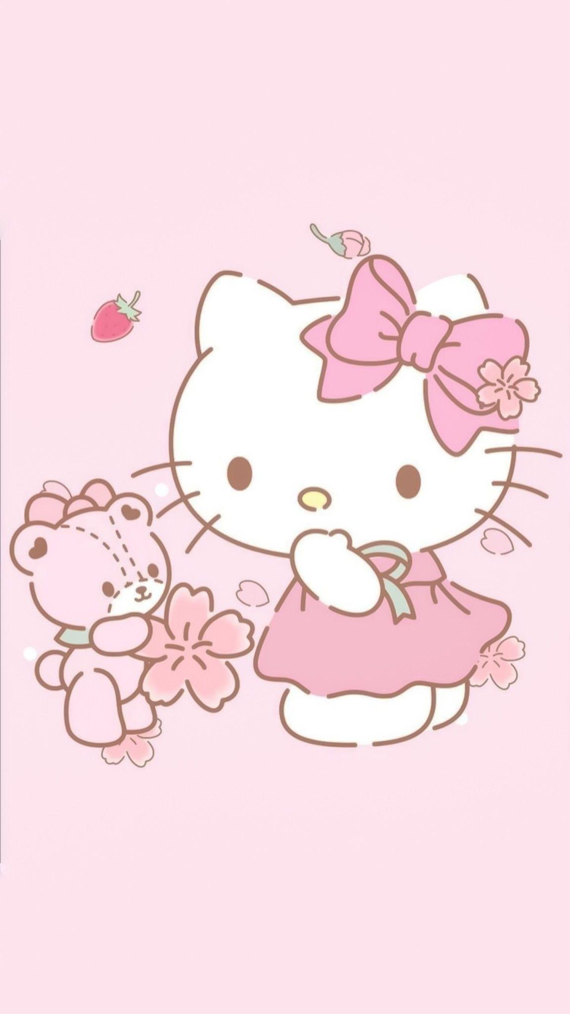 Pin By Apoame On Hello Kitty Bg Hello Kitty Pictures Hello Kitty Wallpaper Pink Hello Kitty