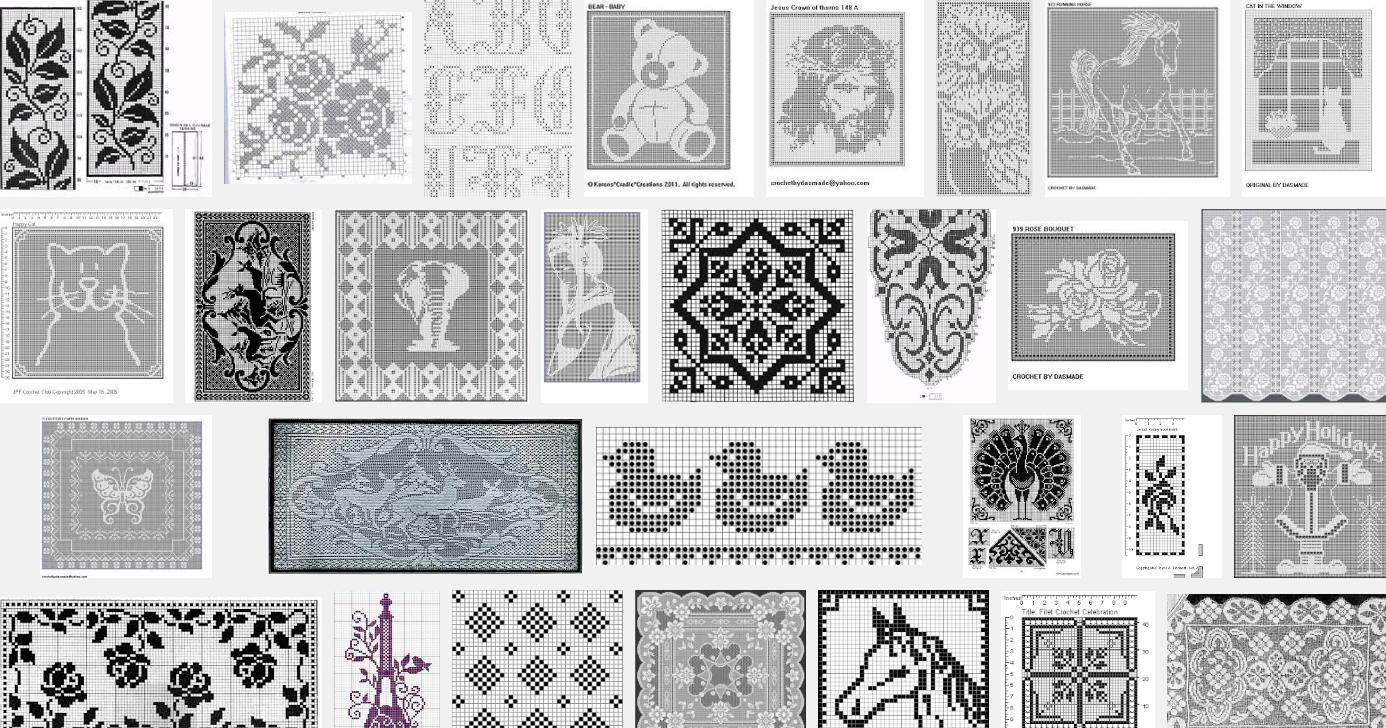 Wat is filet haken en gratis patronen | Crochet | Pinterest