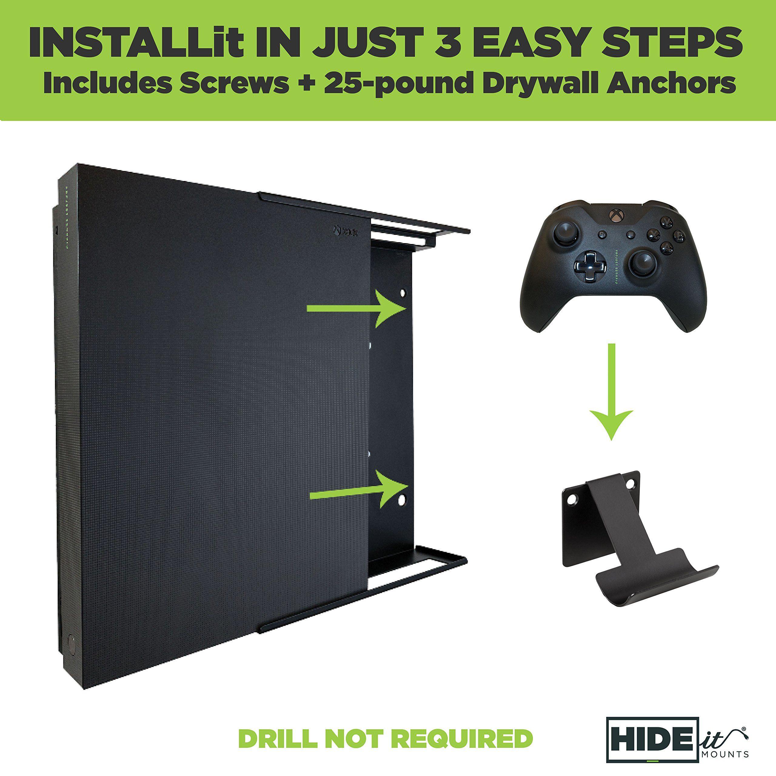 Hideit X1x 2 Controller Mounts Xbox One X Wall Mount Bundle Made