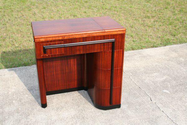 Singer Art Deco Cabinet Refinishing