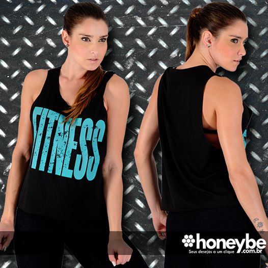 Novidade Honey Be, camiseta fitness regata cavada, compre pelo link: http://bit.ly/1oncmuI