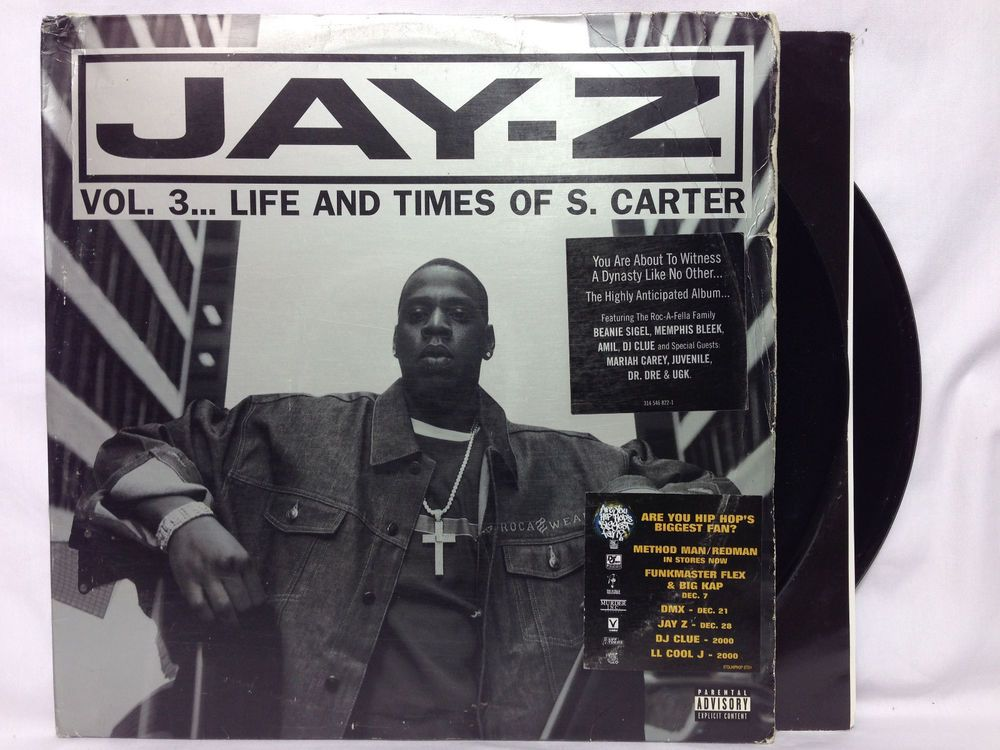 Jay z vol3 life and times of s carter original oop lp vinyl jay z vol3 life and times of s carter malvernweather Gallery