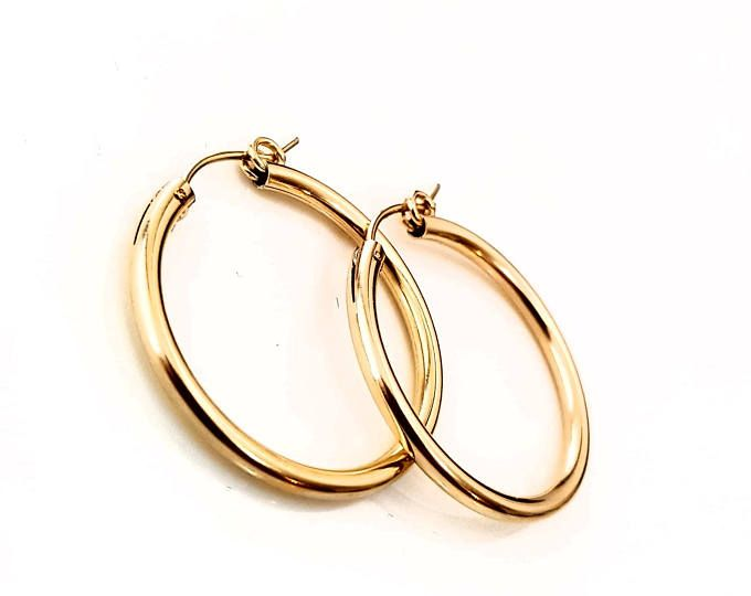 Gold Hoop Earrings Hoops Filled Earring 14k Small Delicate