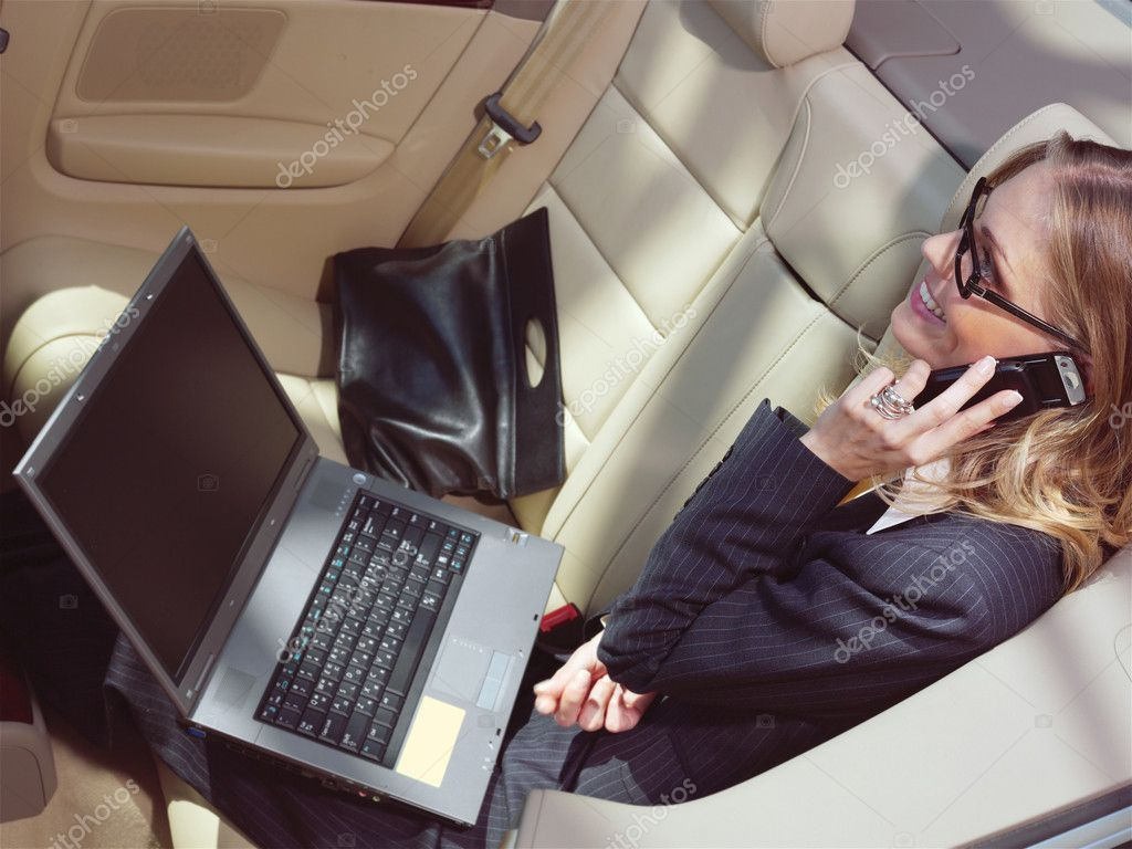 Businesswoman With Laptop L Stock Photo Aff Laptop Businesswoman Photo Stock Ad Chauffeur Service Black Car Service Limo