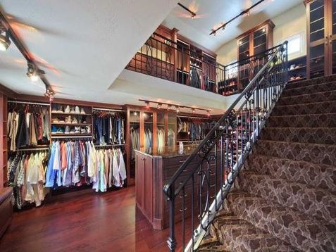 High Quality A Two Story Closet And Dressing Room.