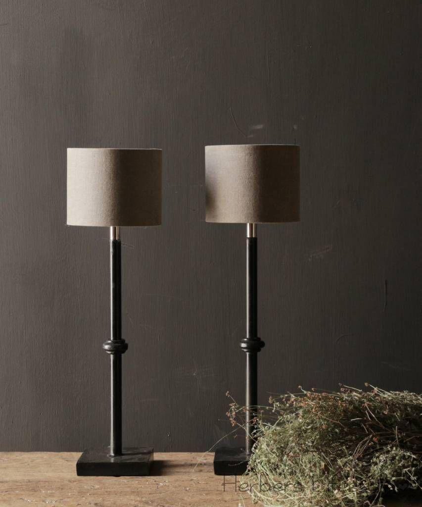 zwart Ijzeren knoop tafellamp | Tafellamp, Lampen in