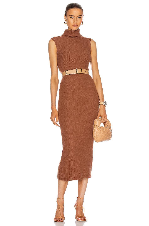 Enza Costa Sweater Knit Sleeveless Turtleneck Dress In Hazel Fwrd In 2020 Turtle Neck Dress Turtleneck Dress Sleeveless Sleeveless Turtleneck [ 1440 x 953 Pixel ]