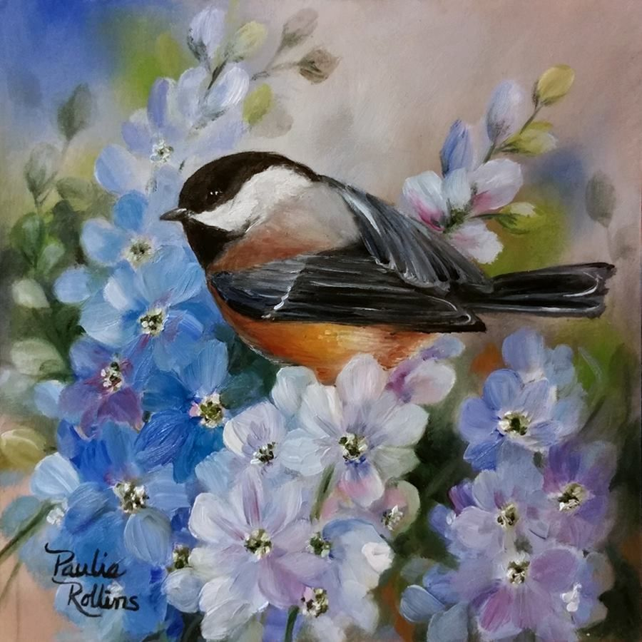 6) Paulie Rollins | Canvas to paint in 2019 | Painting, Bird