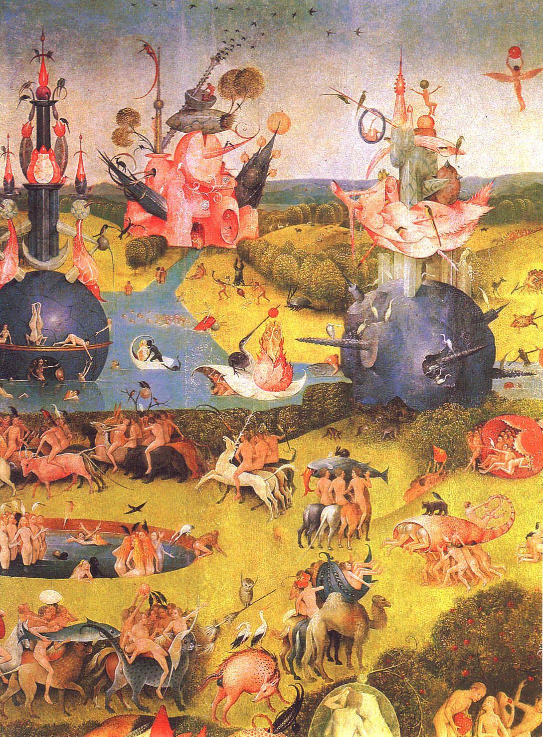 """Jerôme Bosch """"Le Jardin des délices """" (détail) Triptyque ..."""