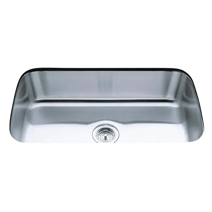 Kohler Undertone 31 5 In X 17 75 In Stainless Steel Single Bowl Undermount Residential Kitchen Sink Lowes Com In 2020 Sink Single Bowl Kitchen Sink Stainless Sink