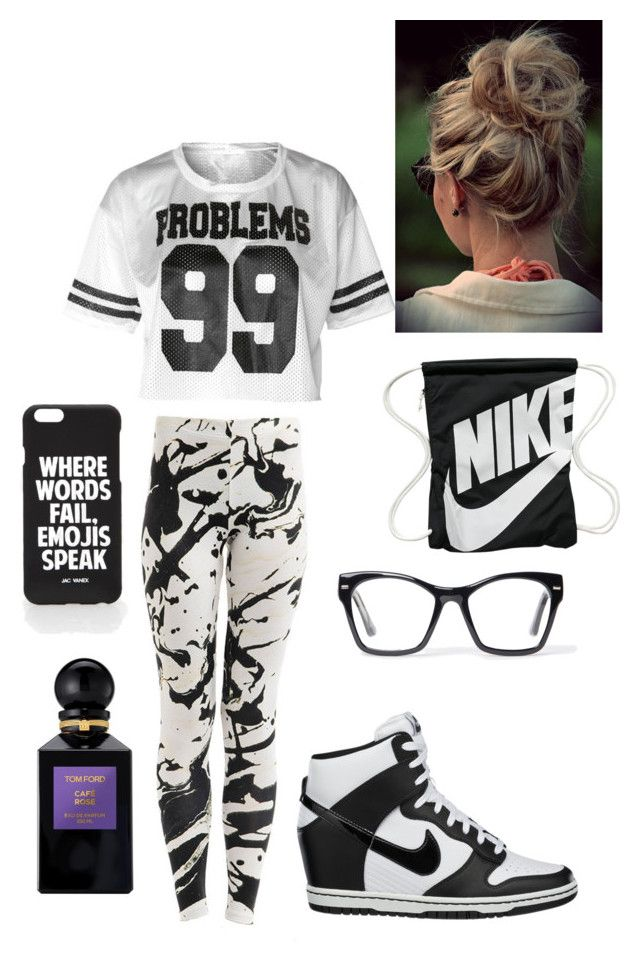 Untitled #184 by passionbites on Polyvore featuring NIKE, Jac Vanek, Spitfire and Tom Ford