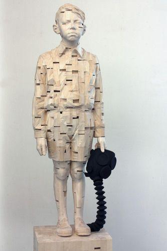 """Gehard Demetz    """"I forgot how the prayer ends""""    182 x 46 x 32 cm    2010"""