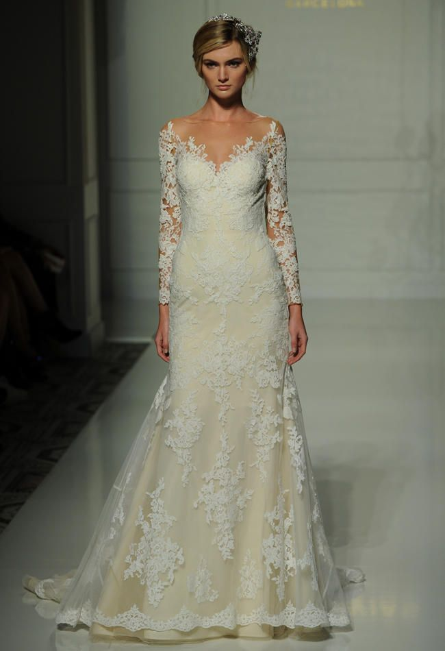 Pronovias's Fall 2016 Wedding Dress Collection Is Sheer Romance ...