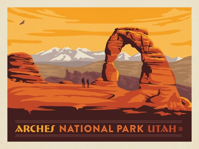 Anderson Design Group 61 American National Parks Arches National Park Horizontal National Parks Trip National Park Posters National Parks