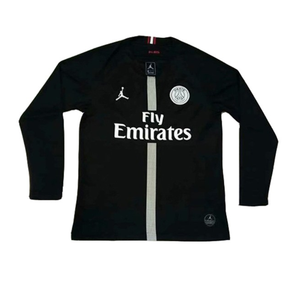 29366f105b7 18-19 PSG JORDAN 3rd Away Black Long Sleeve Soccer Jersey Shirt. With Paris  Saint Germain becoming one of the most popular and dominant forces in world  ...
