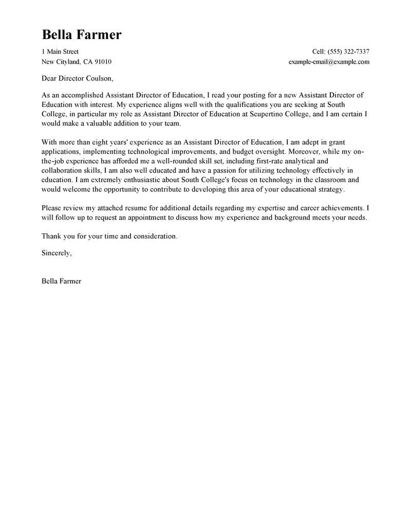 25+ Free Cover Letter Templates | Cover Letter Examples For Job ...