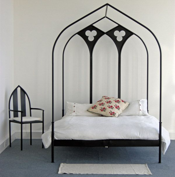gothic arch design bed frame | canopy/ tester bed & gothic arch