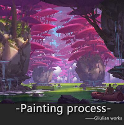 Painting Process ~[adventure], G liulian on ArtStation at https://www.artstation.com/artwork/nv4O1