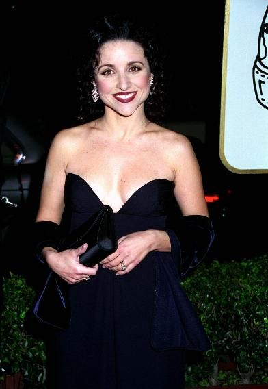 1995 Flashback: See Who Walked the Golden Globes Carpet 20 Years Ago | Julia Louis-Dreyfus.Julia Louis-Dreyfus     Best Supporting Actress in a Television Series nominee Julia Louis-Dreyfus ditched Elaine's dowdy florals and went all-out glam for the Golden Globes. Her 'Seinfeld' co-stars Jerry Seinfeld and Jason Alexander were also nominated. (Sorry, Kramer!)