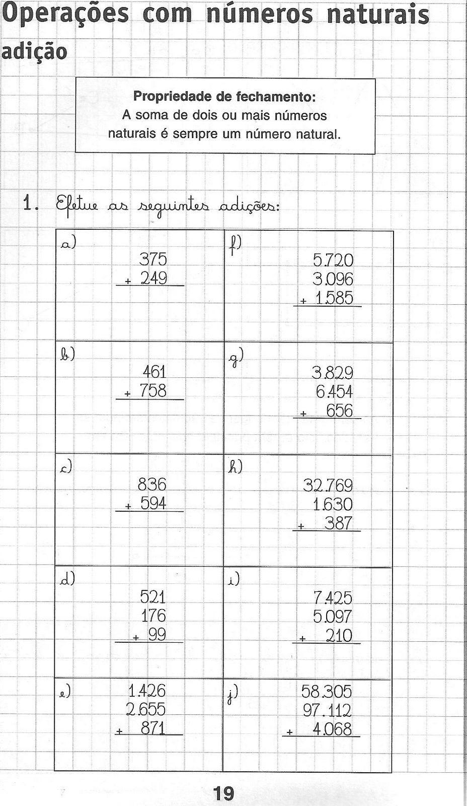 Blog da Escola Boa Vista: Matemática para 5º ano | Enseñanza de la ...