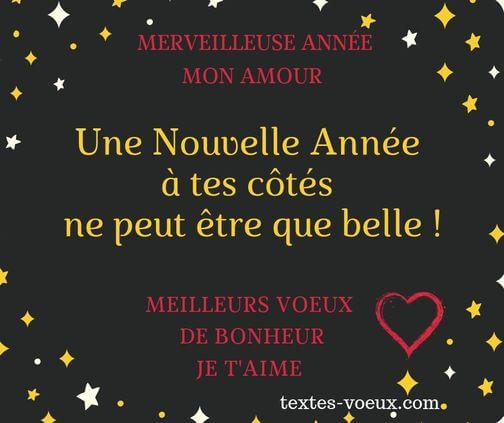 Message de voeux bonne année 2020 Voeux d'amour souhaits romantiques