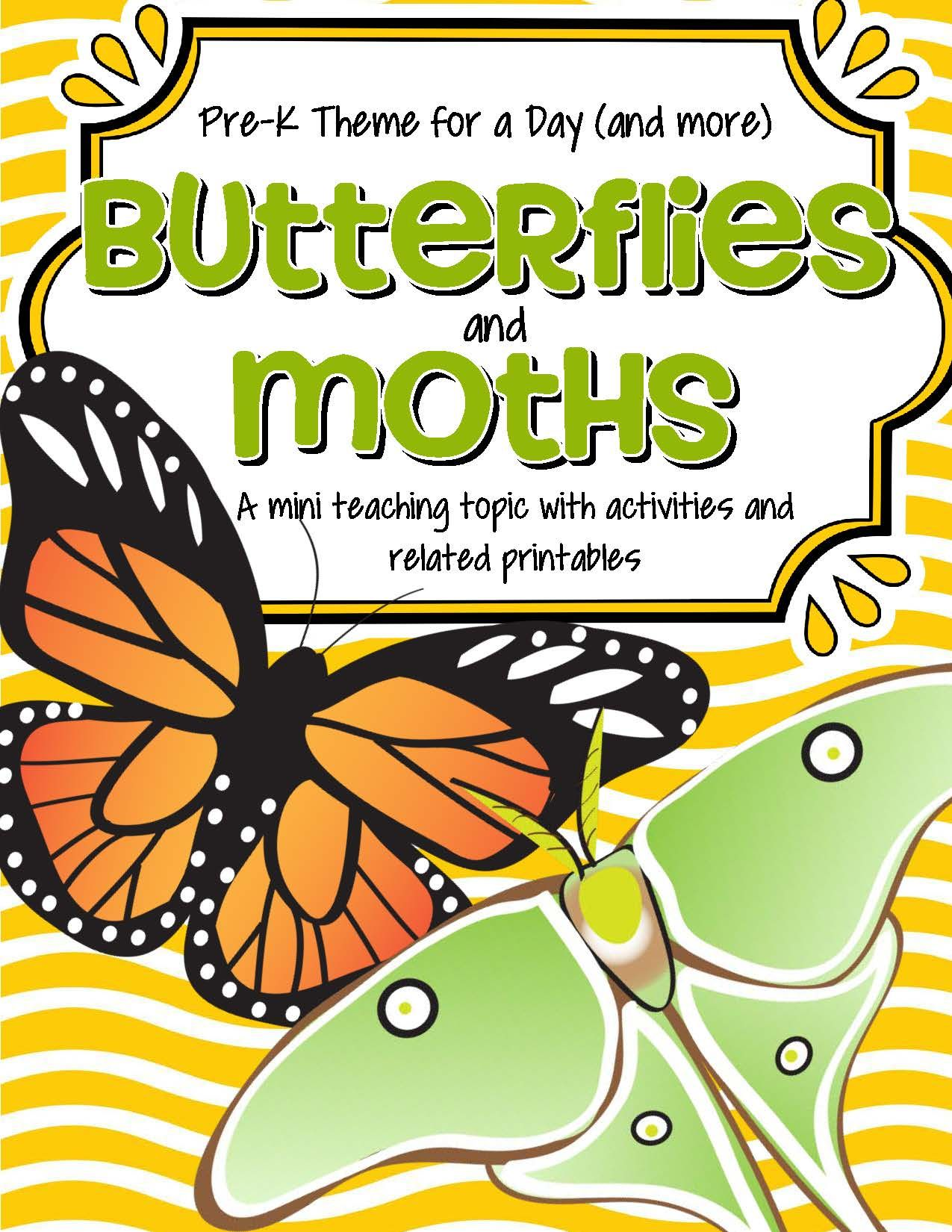 Butterflies Amp Moths Math Science And Literacy Activities