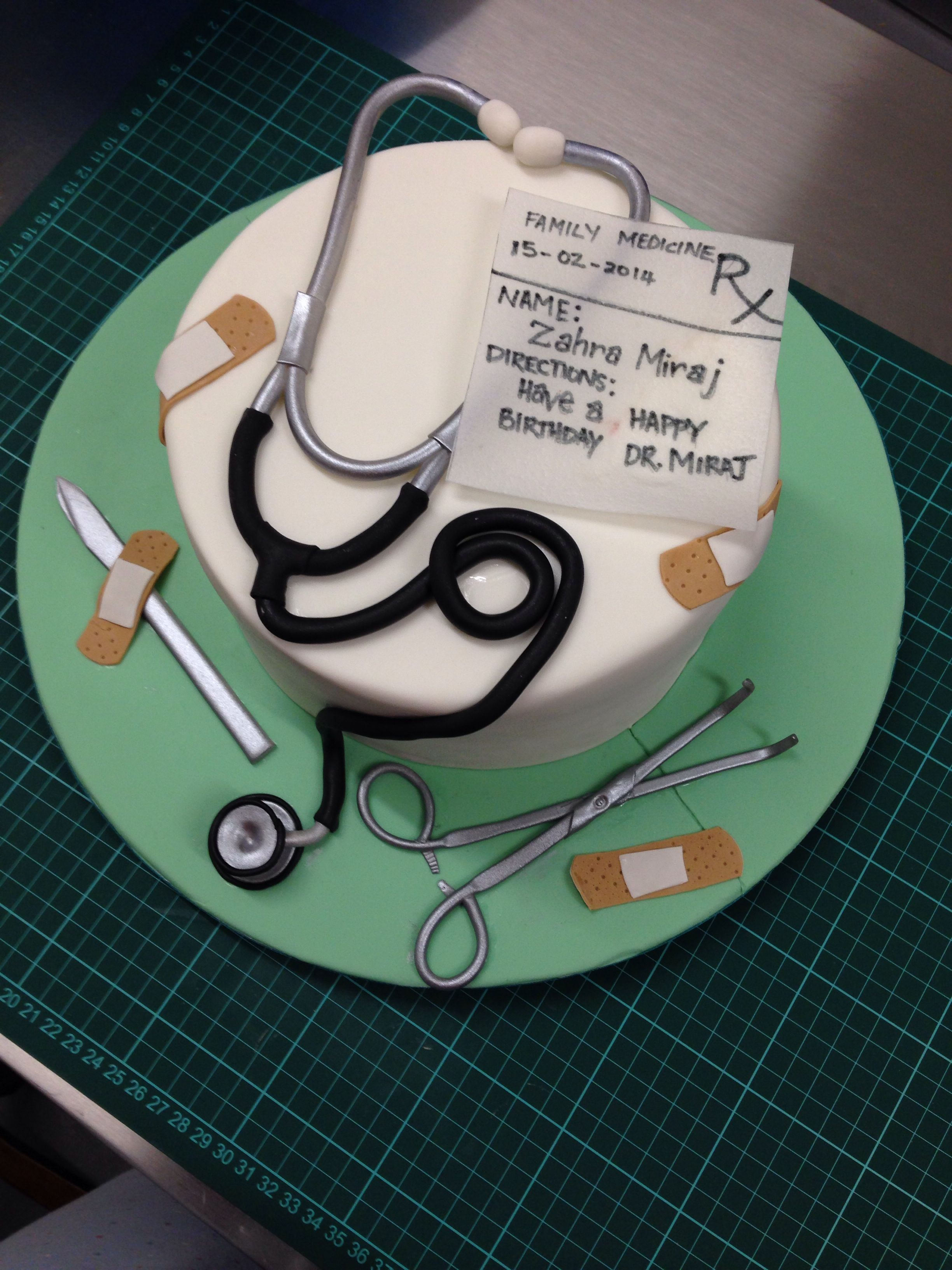 Incredible Doctor Surgeon Cake With Images Doctor Birthday Cake Birthday Cards Printable Trancafe Filternl