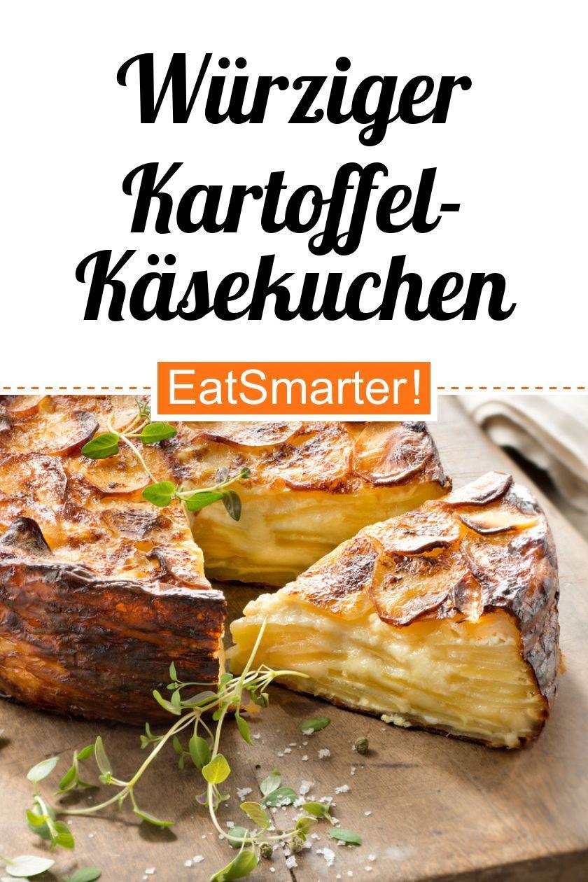 Smarte Hausmannskost: Würziger Kartoffel-Käsekuchen - kalorienarm - schnelles Rezept - einfaches Gericht - So gesund ist das Rezept: 8,8/10 | Eine Rezeptidee von EAT SMARTER | Vegetarisch, Vegetarisches Mittagessen, Vegetarisches Abendessen, Vegetarische Hauptgerichte, Bäuerlich, Feierabend-Rezepte, Was backe ich heute?, Einfach, Für Viele, Gäste, Ländlich, Sonntag, Was koche ich am Wochenende, Wochenende, Kartoffel, Kartoffeln, Käse, Milchprodukte #herzhaftekuchen #gesunderezepte