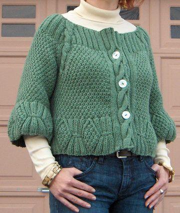 Short Sleeve Cardigan Knitting Patterns | Knitting ...