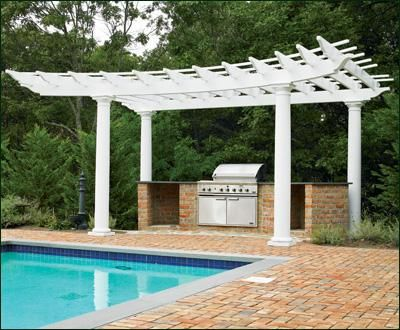 Radius pergola wood pergolas solid cellular pvc pergolas and