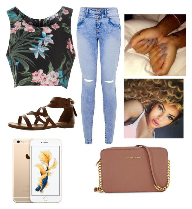 """'saucin on youu"" by zoeexx33 ❤ liked on Polyvore featuring Glamorous, Breckelle's and Michael Kors"