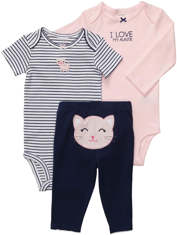 ae27837de2b Aunties and kitties! Carter s Baby Girls  3 Pc Turn Me Around Set ...