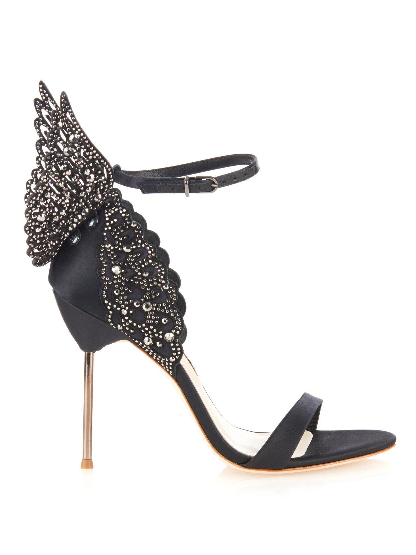 SOPHIA WEBSTER Evangeline angelwing satin sandals