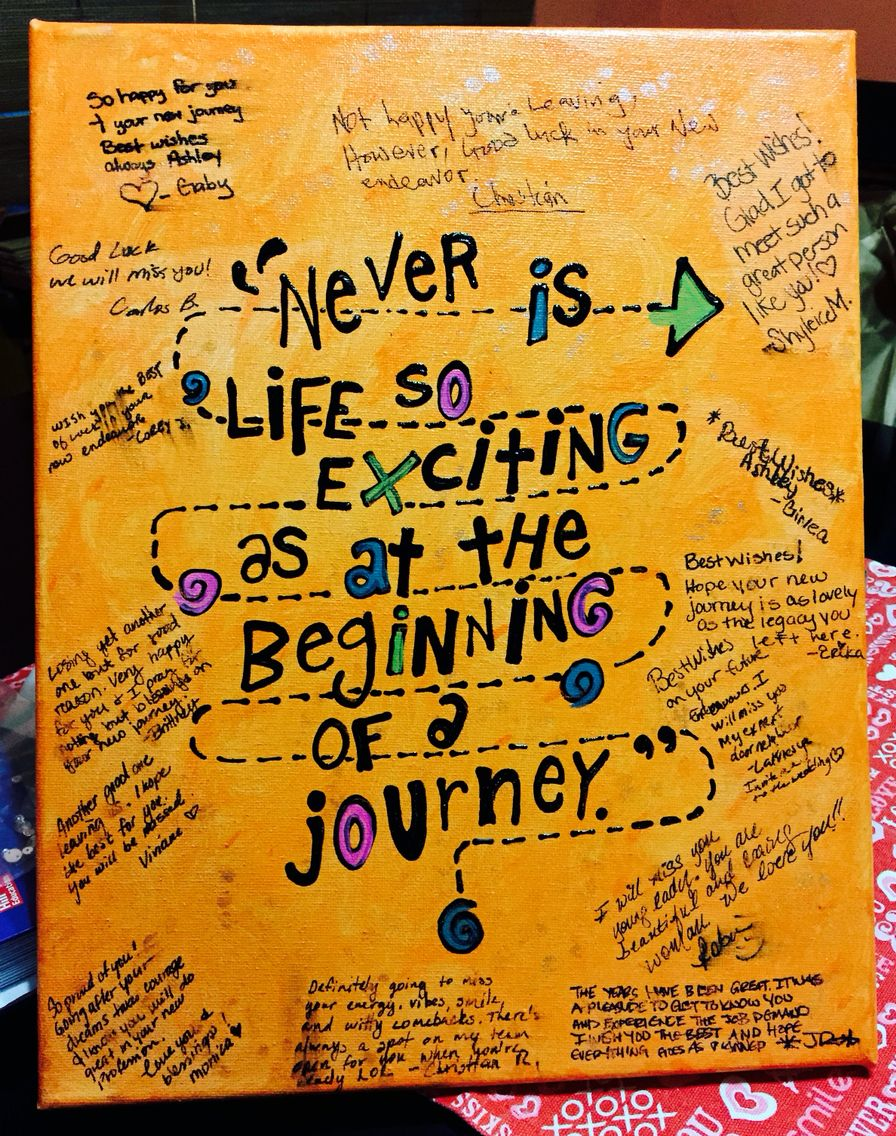 Goodbye Gift For Coworkers I Painted The Canvas Then Wrote Quote