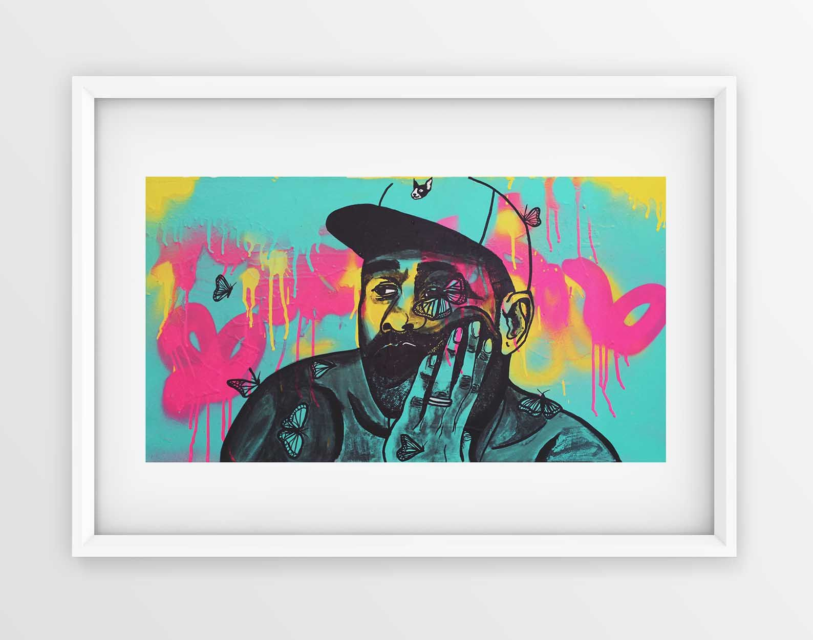 84f4c89b491a6f Excited to share my first A4 size Limited Print Edition of Ty Ty (210mm x