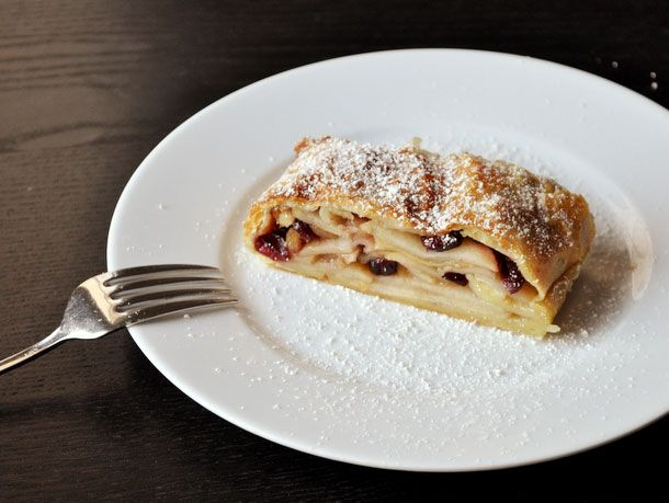 Wake and Bake: Cranberry Apple Strudel #recipe