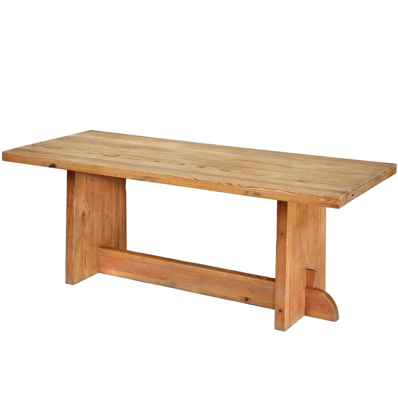 Pine 'Lovö' Table by Axel Einar Hjorth