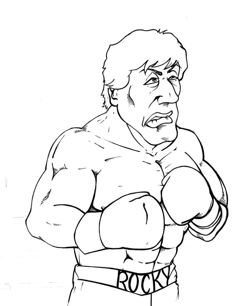 Rocky Coloring Pages For Favors Rocky Balboa Rocky Sketches