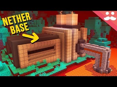 Making A Nether Base In Minecraft 1 16 Youtube In 2020 Minecraft Minecraft Blueprints Minecraft Designs