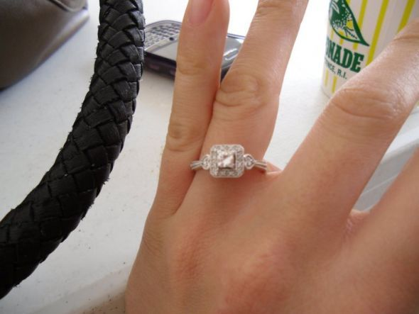 Post your 1/3 carat diamond engagement rings! Round, princess #
