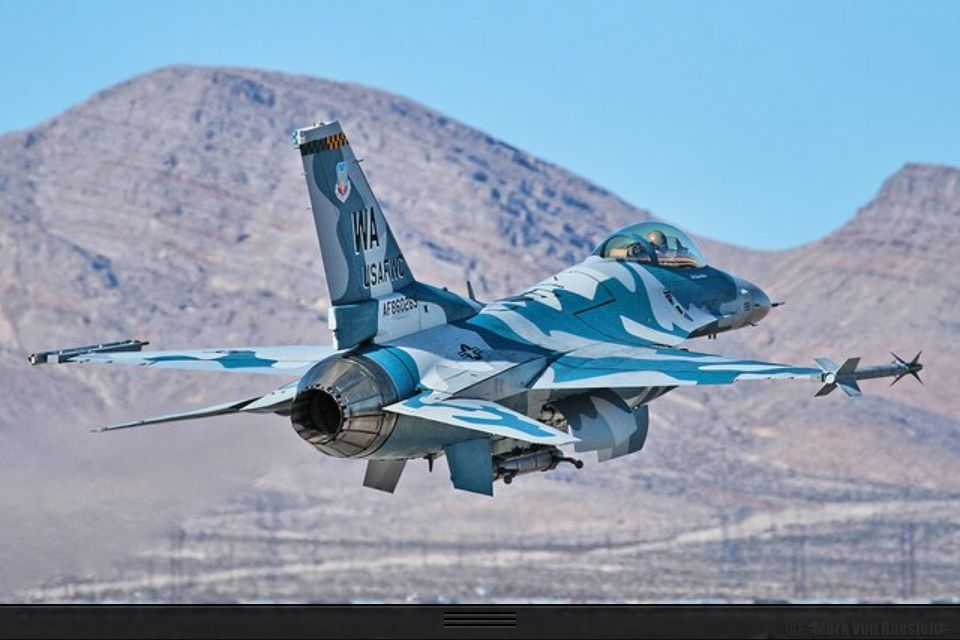 F16 in camouflage.