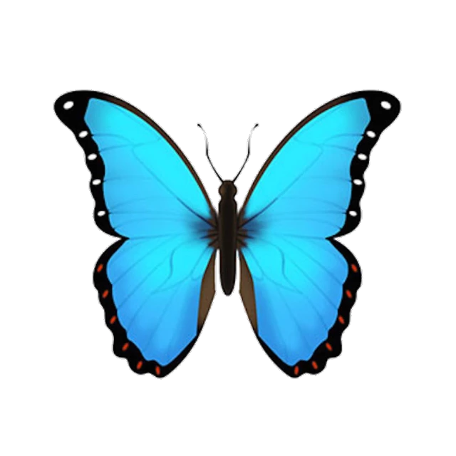Picsart Photo Studio Blue Emoji Blue Butterfly Emoji Drawing