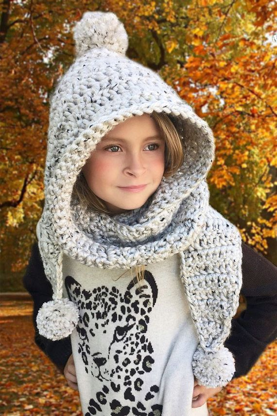 Hooded Scarf, Scarf, Hooded Neck Warmer, Gift for Women, Gift for ...