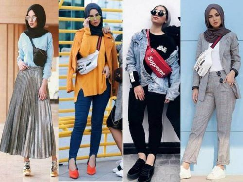 How To Wear Waist Bag With Hijab Trendy Style For 2018 Just S