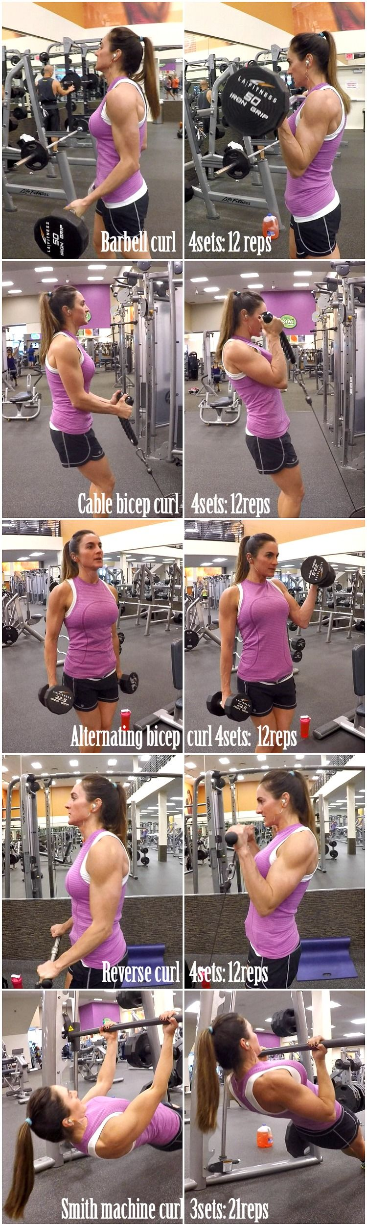 5 Exercises for Great Biceps (Fitness Food Diva) #bicepsworkout